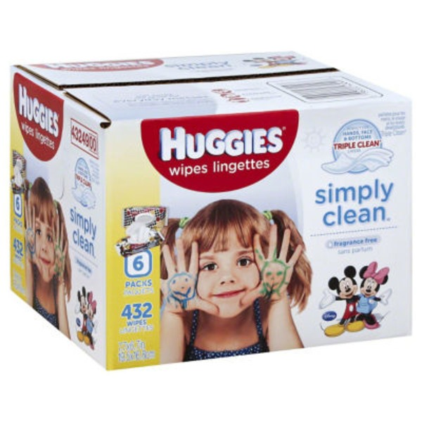 Huggies Simply Clean Fragrance Free Baby Wipes