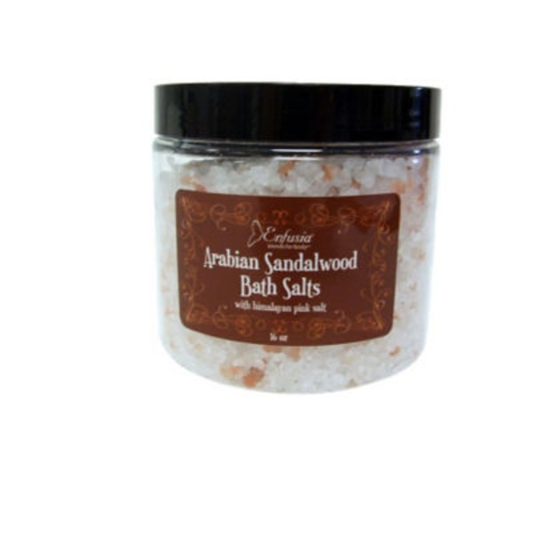 Enfisia Blends Arabian Sandalwood Bath Salts With Himalayan Pink Salt