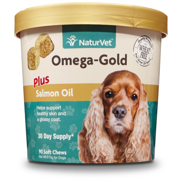 NaturVet Omega Gold Salmon Oil Dog Soft Chews