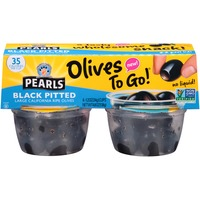 Pearls Olives to Go! Black Pitted Large California Ripe Olives