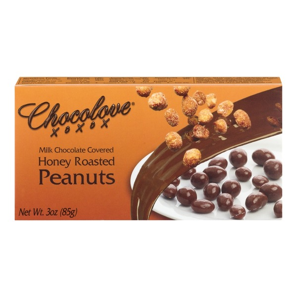 Chocolove Milk Chocolate Covered Honey Roasted Peanuts