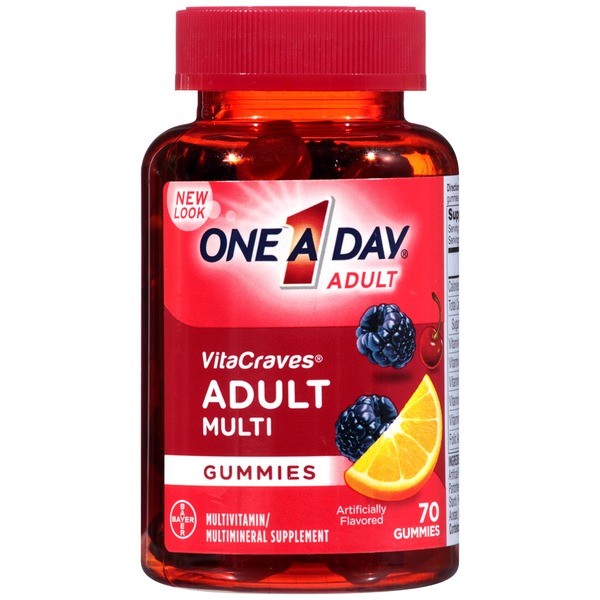 One A Day VitaCraves Adult Multi Gummies Multivitamin/Multimineral Supplement