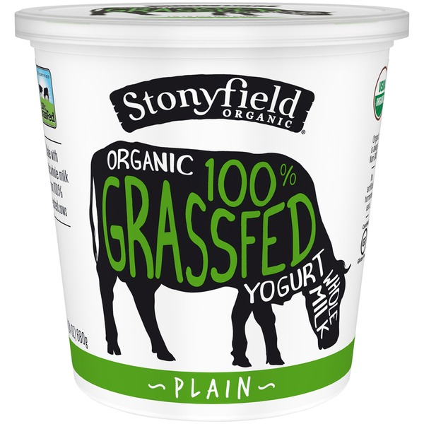 Stonyfield Organic Organic 100% Grassfed Plain Whole Milk Yogurt
