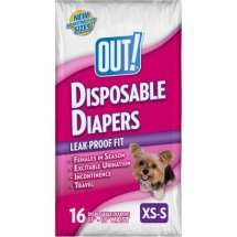 Out! XS/S Disposable Diapers, 16 Ct