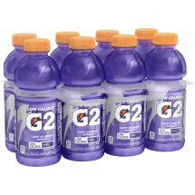 G2 Thirst Quencher Low Calorie Sports Drink, Grape, 20 Fl Oz, 8 Count