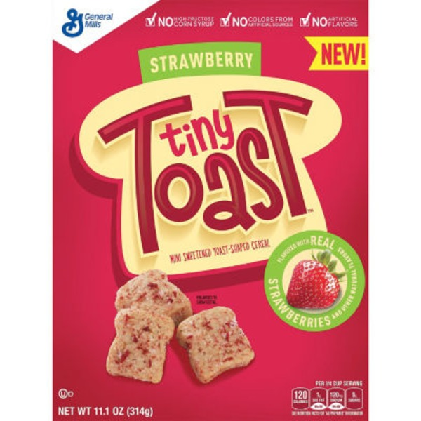 Tiny Toast Strawberry Cereal