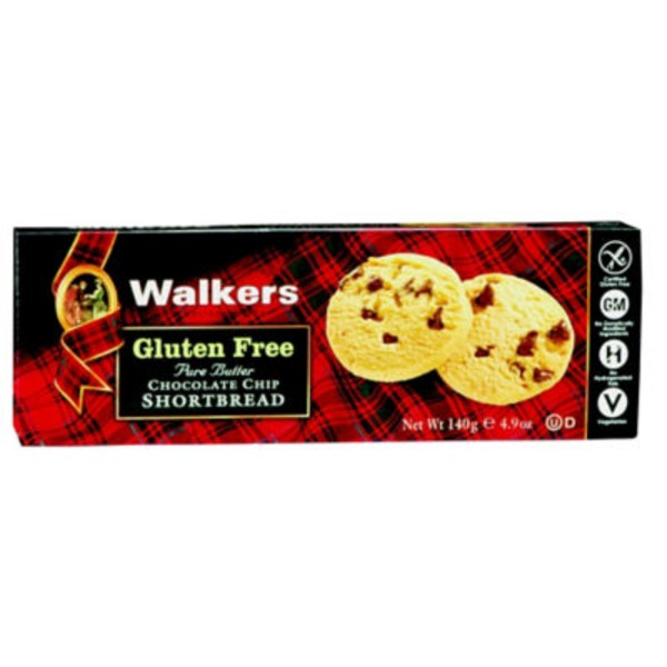Walkers Gluten Free Pure Butter Chocolate Chip Shortbread