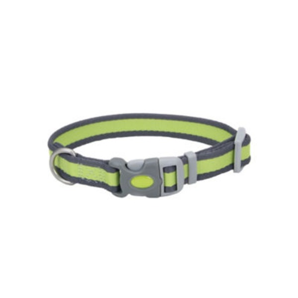 Coastal Pet Pet Attire Pro Bright Green With Grey 3/4 Inch Adjustable Collar