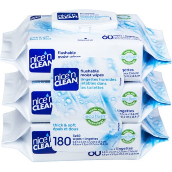 Nice 'n Clean Ecoflush Flushable Moist Wipes