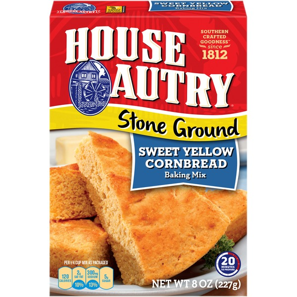 House Autry Stone Ground Sweet Yellow Cornbread Mix