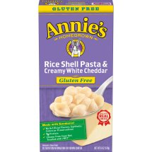 Annie's Rice Shells and Creamy White Cheddar Mac and Cheese, 6 oz, 6.0 OZ