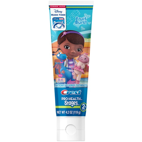 Oral-B Pro Health Stages Crest PH Stages - Doc McStuffins Kids Fruit Burst Toothpaste 4.2 oz Dentifrice
