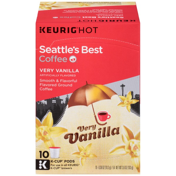 Seattle's Best Coffee Very Vanilla K-Cups Ground Coffee