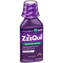 ZzzQuil Nighttime Sleep Aid, Warming Berry, Liquid, 12 oz