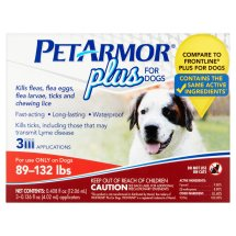 PetArmor Plus Flea and Tick Treatment for Extra-Large Dogs, 3 Monthly Doses