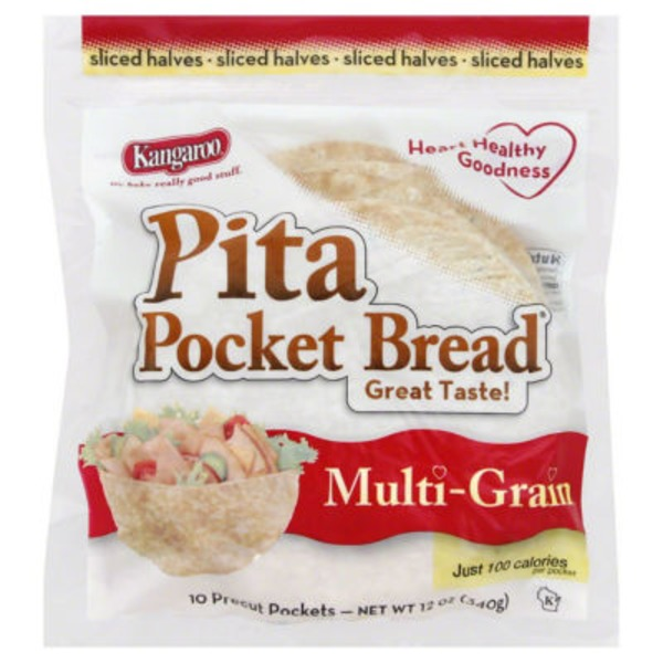 Kangaroo Multi-Grain Pita Pocket Bread