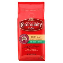 Community Coffee Premium Ground Half Caff Medium-Dark Roast Coffee, 12 Ounce