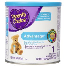 Parent's Choice Advantage Infant Formula with Iron, 12.4 oz