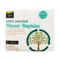 365 100% Recycled Dinner Napkins