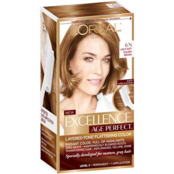 Excellence Age Perfect Layered-Tone Flattering Color 6N Light Soft Golden Brown Hair Color