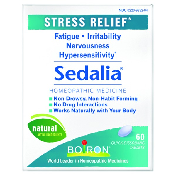 Boiron Sedalia Homeopathic Medicine Stress Relief Quick Dissolving Tablets - 60 CT