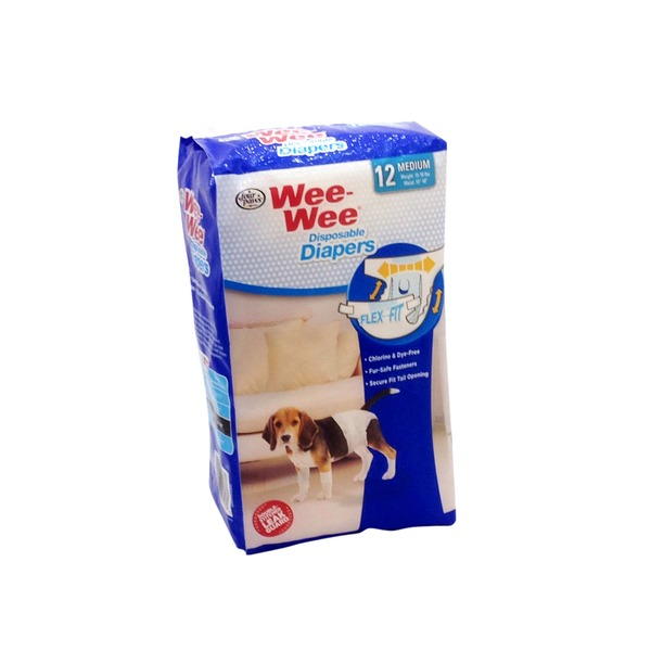 Four Paws Wee-Wee Medium Disposable Dog Diapers
