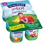 Stonyfield Organic YoToddler Strawberry Banana Organic Whole Milk Yogurt