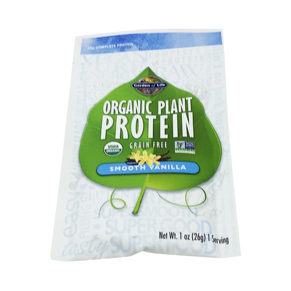 Garden of Life Organic Plant Protein Vanilla Single Pack