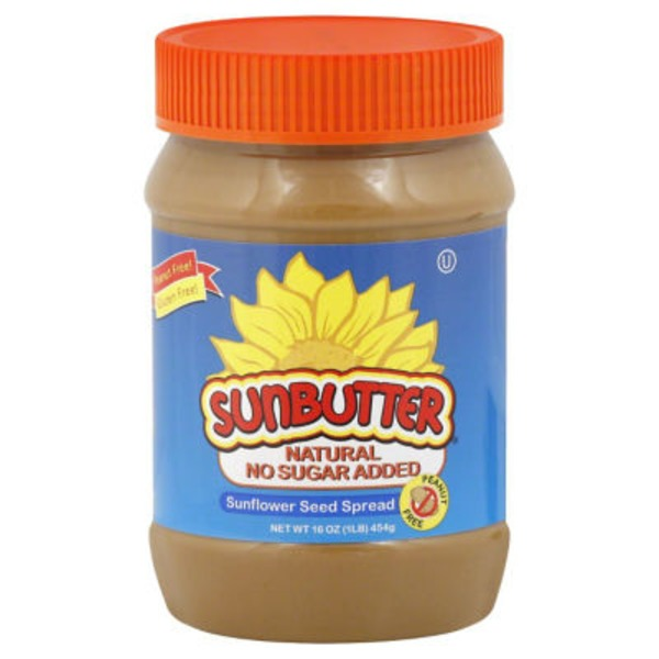 Sunbutter Sunflower Seed Spread, Natural, Jar