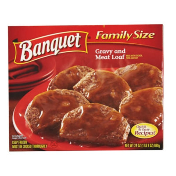 Banquet Family Size Gravy And Meatloaf