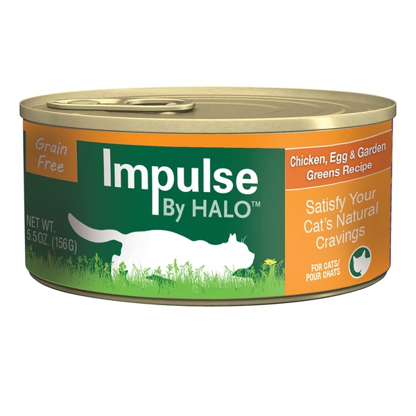 Halo Impulse Chicken & Greens Canned Cat Food Case Of 12