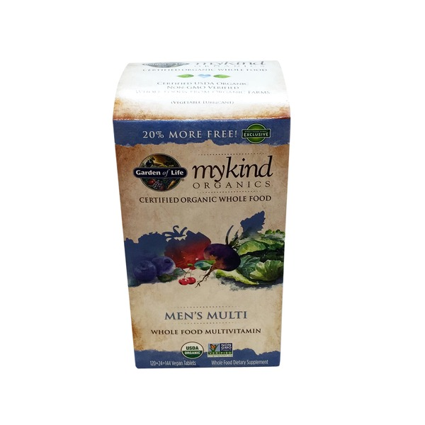 Garden of Life Kind Organics Men's Multi Whole Food Multivitamin 144 ct