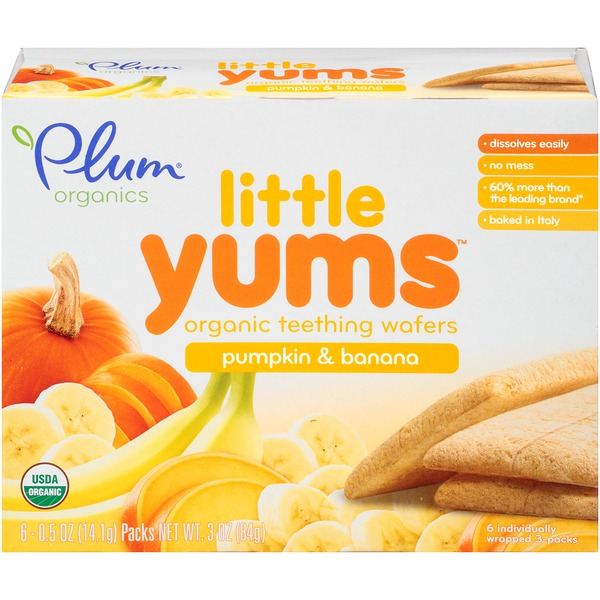 Plum Baby Little Yums Pumpkin & Banana Teething Wafers