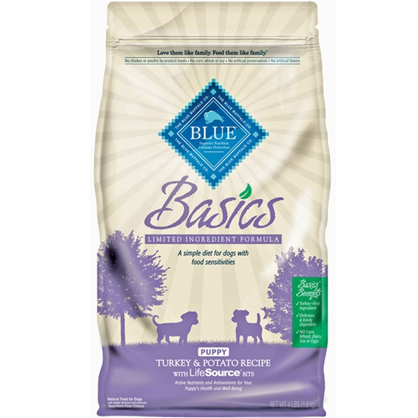 The Blue Buffalo Co. Basics Limited Ingredient Formula Puppy Turkey & Potato Recipe With LifeSource Bits Natural Dog Food