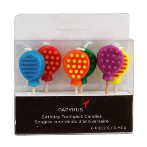 Papyrus Birthday Toothpick Candles