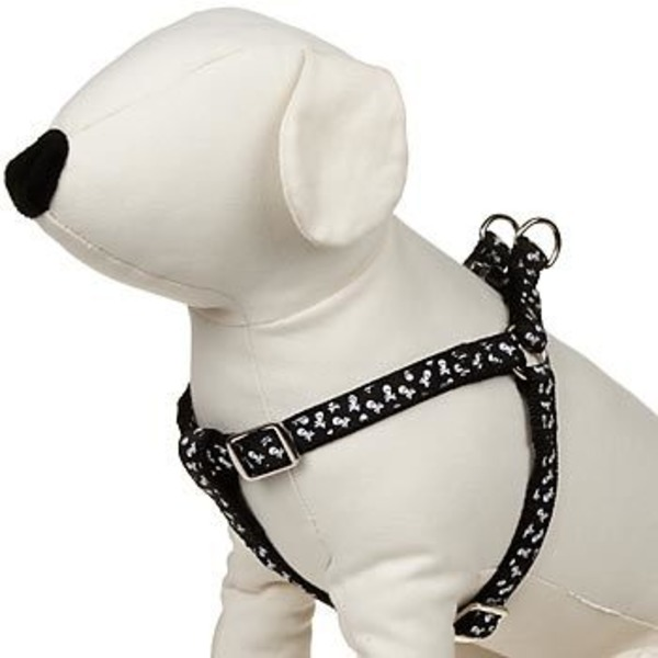 Petco Easy Step In Black & White Skull Print Dog Harness