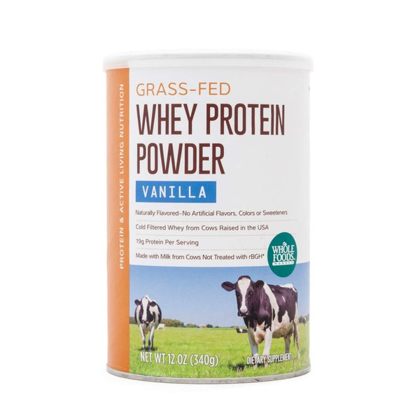 Whole Foods Market Grass Fed Whey Protein Powder Vanilla