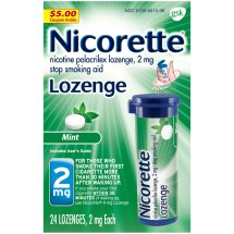 Nicorette Lozenges, 2mg, Mint, 24ct