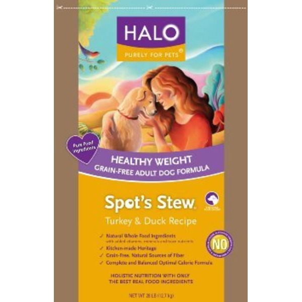 Halo Spot's Stew Healthy Weight Grain Free Turkey & Duck Adult Dog Food