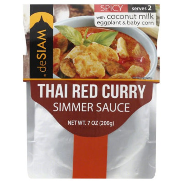 deSiam Thai Red Curry Spicy Simmer Sauce