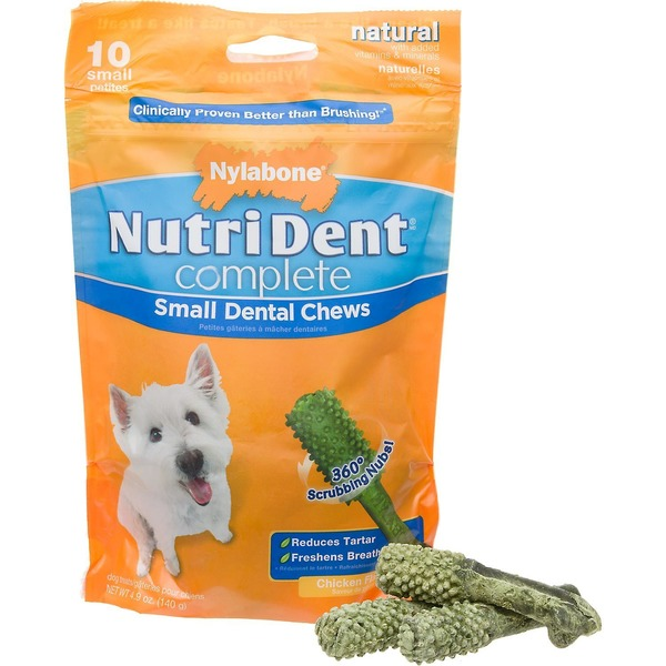 Nylabone Nutri Dent Complete Small Dog Chews Chicken Flavor