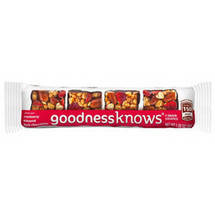 Gooodness Knows Cranberry Almond Dark Chocolate Bar