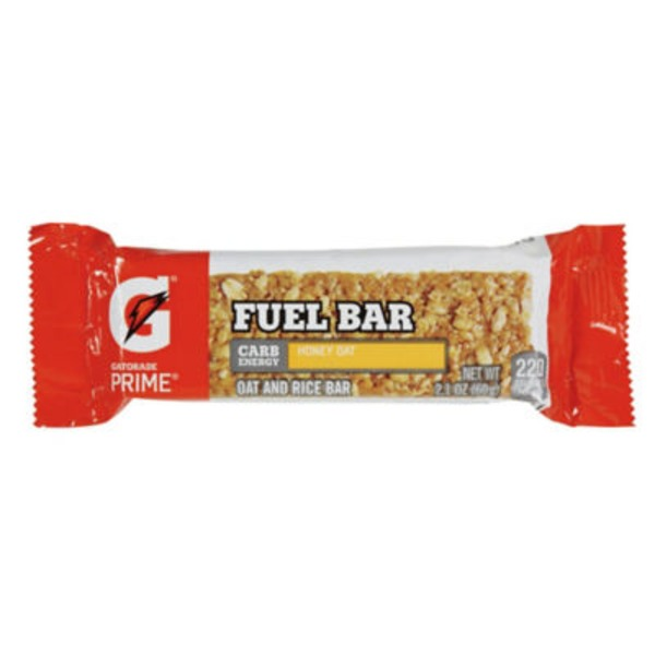 Gatorade Prime Honey Oat Fuel Bar Energy Bar