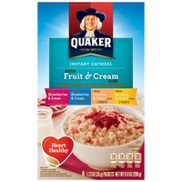 Quaker Oatmeal Fruit & Cream Instant Oatmeal