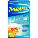 Theraflu Nighttime Multi-Symptom Severe Cold with Lipton Green Tea & Citrus Powder for Cough & Cold Relief 6 ct Packets