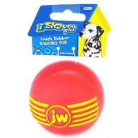 JW Pet I Squeak Ball Durable Natural Rubber