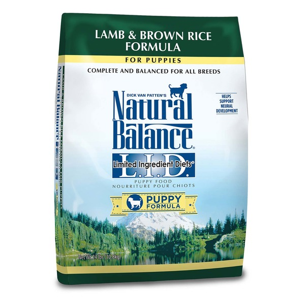 Dick Van Patten's Natural Balance Lamb & Brown Rice Formula for Puppies Limited Ingredient Diet Puppy Formula