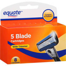 Equate 5 Blade Razor Cartridges with Trimmer for Men