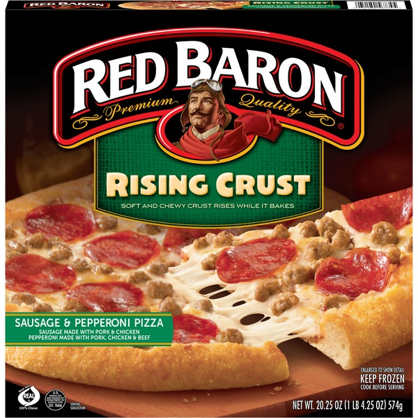 Red Baron Rising Crust Sausage and Pepperoni Pizza