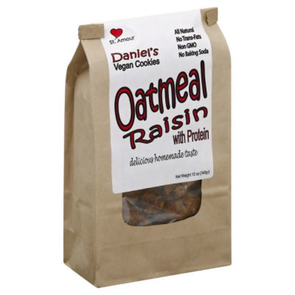 Daniels Vegan Oatmeal Raisin Cookies